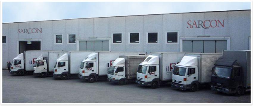 Camion Sarcon distributore materassi Lazio